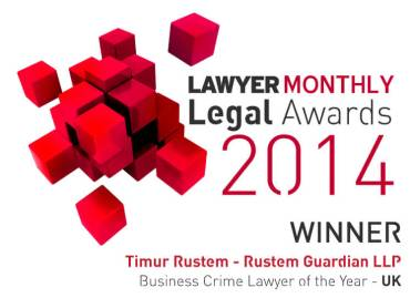 Lawyer Monthly Legal Awards 2014 Winner Timur Rustem