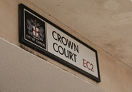 Crown Court EC2 Road Sign