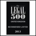 Rustem Guardian Solicitors Legal 500 2013 Award