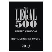 Rustem Guardian Solicitors Legal 500 2013 Award