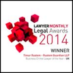Lawyer Monthly 2014 Winner Timur Rustem