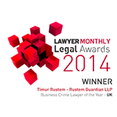 Lawyer Monthly 2014 Winner Timur Rustem